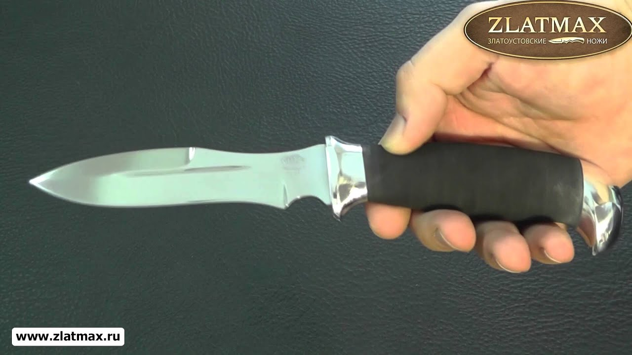 Видео Нож Н21 (40Х10С2М, Микропористая резина, Алюминий)