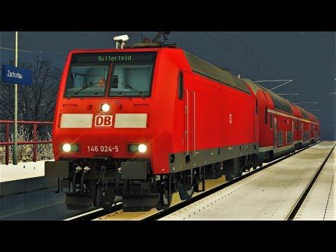 Let's Play Train Simulator 2018 Regionalbahn Abschleppen BR146 Schutzstreckenhilfe Berlin - Leipzig