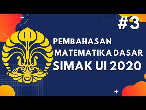 Matematika Dasar Simak Ui 2020