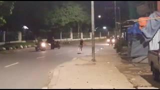 Detik - detik Pembacokan Gang Motor ( gangstar) Di Jl. Lenteng Agung
