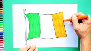 How to draw and color the National Flag of Ireland
