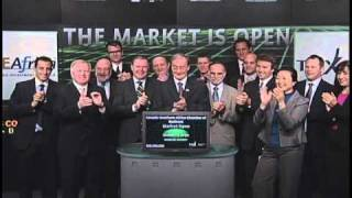 Canada-Southern Africa Chamber of Business opens Toronto Stock Exchange, October 28, 2010.