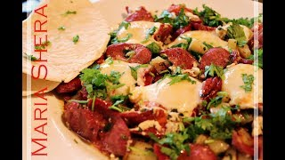 EGG - TOMATO - SAUSAGE - EGG POTATO RECIPE - A Persian style breakfast - Afghan style breakfast