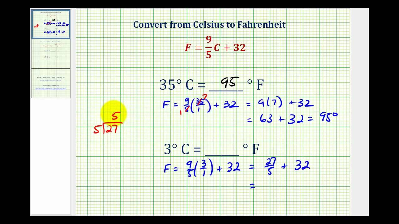 Ex Convert Temperature From Celsius To Fahrenheit