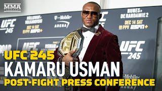 UFC 245: Kamaru Usman Post-Fight Press Conference - MMA Fighting