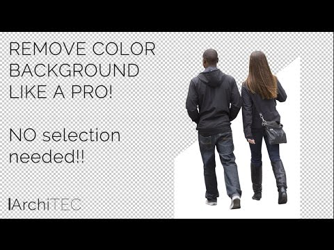 Remove Background Color LIKE A PRO! NO SELECTION NEEDED! - YouTube