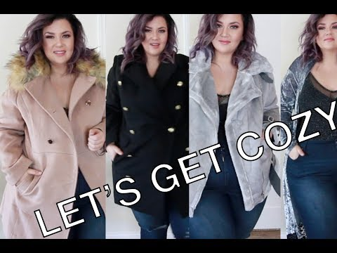 PLUS SIZE FASHION TRY ON HAUL | BOOHOO Outerwear to be cozy af! | Sometimes Glam