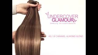 Caramel Almond Blend #6/18 - Ultra Soft, Clip-in Human Hair Extensions