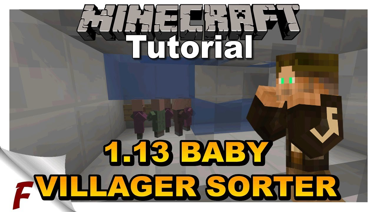 ✅ Minecraft 1 13 Baby Villager Sorter Tutorial  Filters Baby