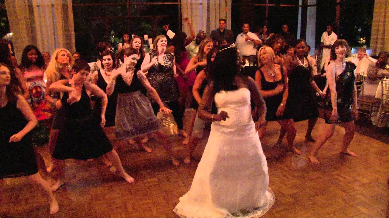 Zumba Flash Mob Wedding Reception Youtube