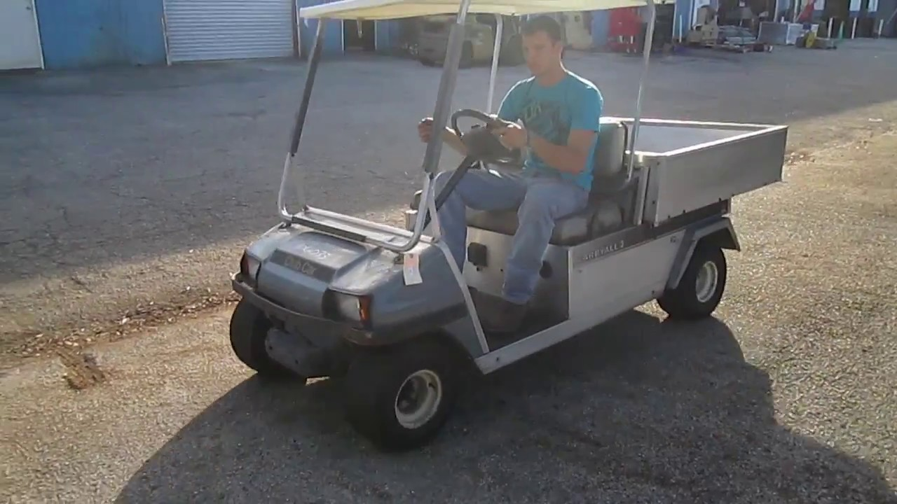 Club Car Carryall 2 48V Electric Golf Cart w/ Utility Bed SOLD - YouTube