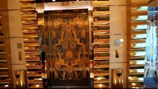 Burj al Arab Dubai, gold, gold, golden elevators,HD Quality.mov