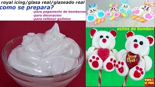 receta royal icing