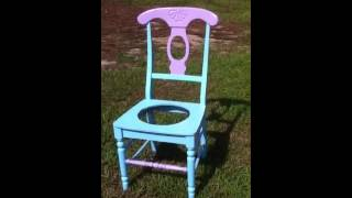 Colorful Garden Chair Planter