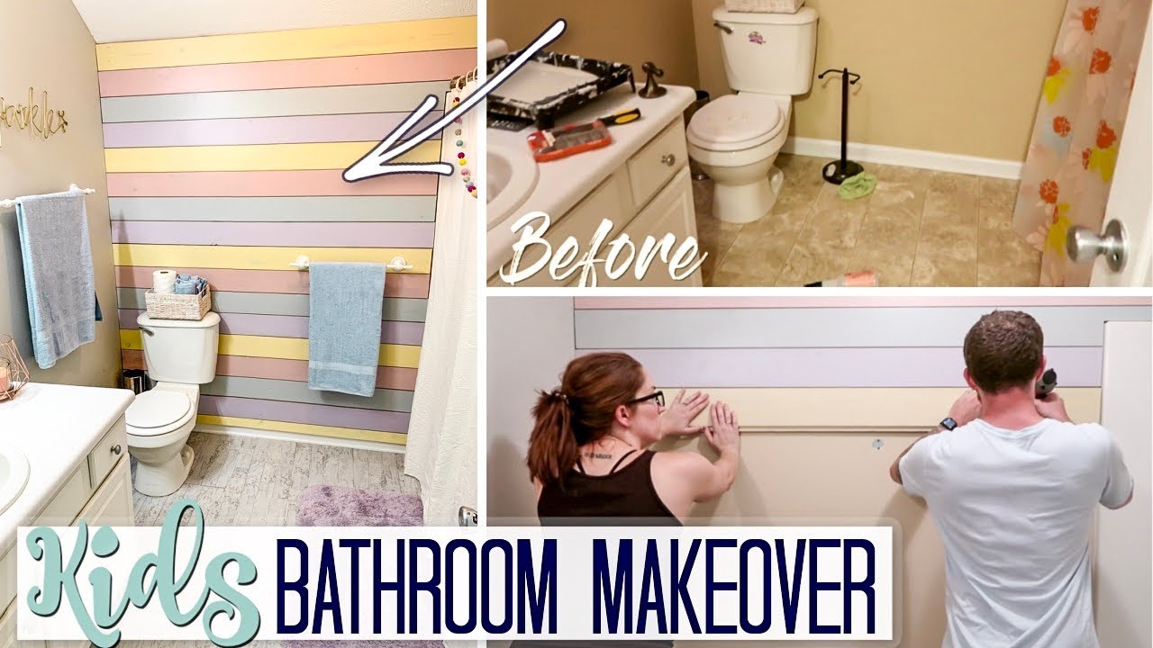 Diy Farmhouse Bathroom Makeover Girls Ideas On A Budget Clean Decorate With Me Youtube