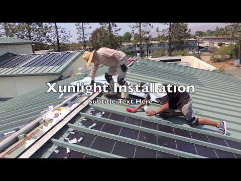 How to install flexible thin film solar panel