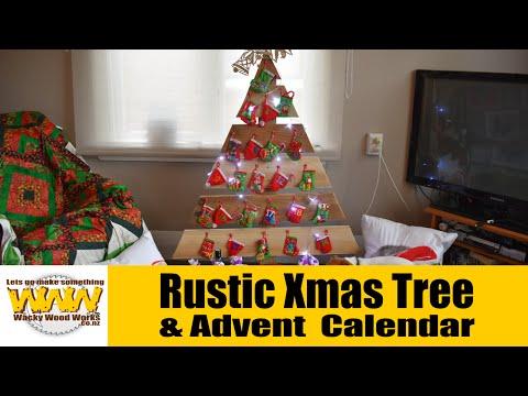 Make a rustic Xmas Tree advent calendar - Wacky Wood Works