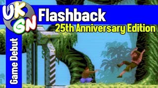 Flashback: 25th Anniversary Edition [Switch] Opening level gameplay