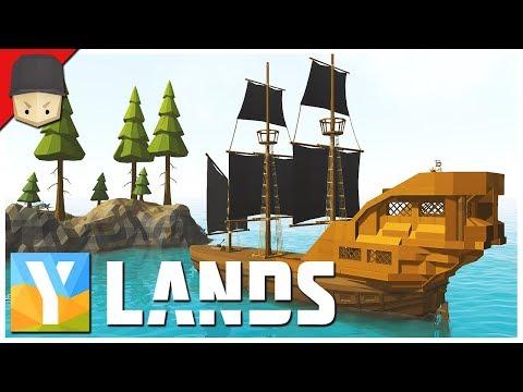 YLANDS  The Pirate Ship! : Ep.16 SurvivalCraftingExplorationSandbox Game