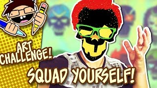 MAKE YOUR OWN SUICIDE SQUAD SKULL ICON!   Art Challenge