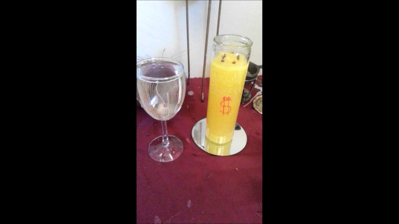 Yellow Candle Oshun Money Spell