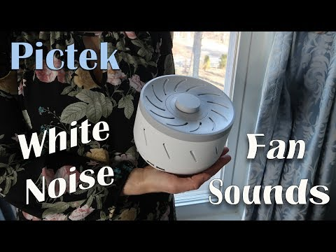 🌼 PICTEK WHITE NOISE MACHINE (Fan Sounds) SLEEP THERAPY (BABY SLEEP) REVIEW 👈