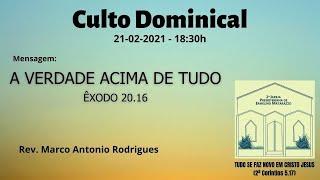 A VERDADE ACIMA DE TUDO - Êxodo 20.16