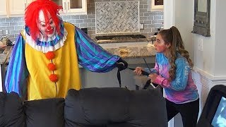 This scary killer clown has broken into our old house again and whe...