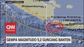 Gempa Magnitudo 5,2 Guncang Banten,  Terasa hingga Jakarta