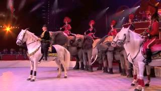 International Circus Festival - horses and elephants act Thumbnail
