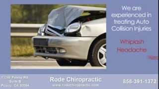 Auto Accident Poway Chiropractor Rode Chiropractic of Poway CA 92064