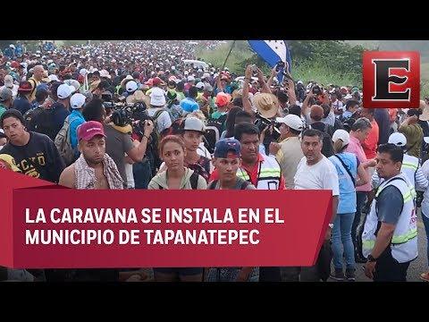 Migrantes centroamericanos llegan a Oaxaca