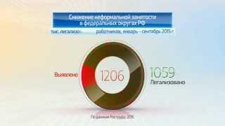 Россия в цифрах. Легализация трудовых отношений