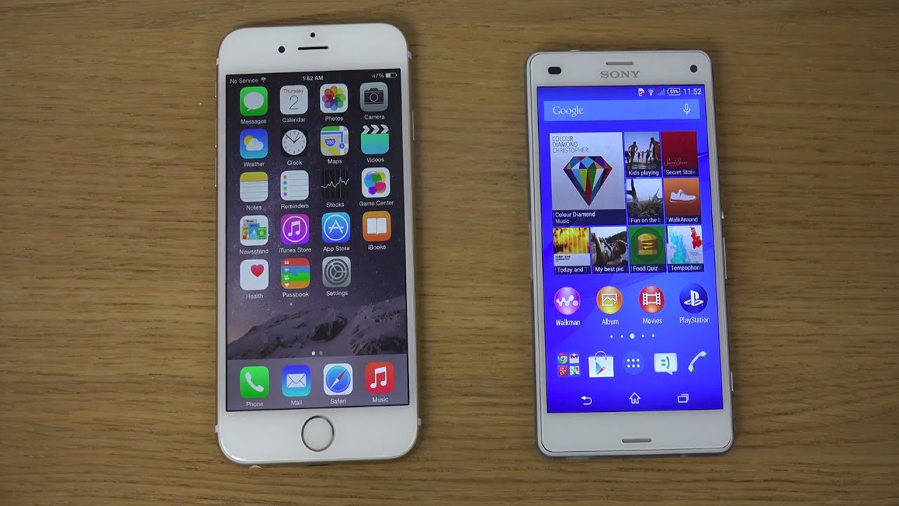 s5 vs iphone 6s Plus vs xperia z3