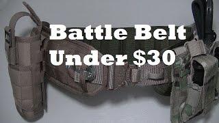 Budget Battle Belt & Set up