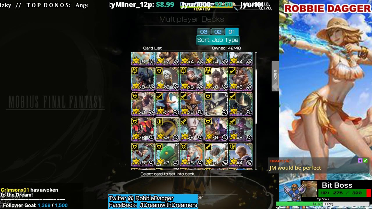 mobius final fantasy multiplayer deck building with friends