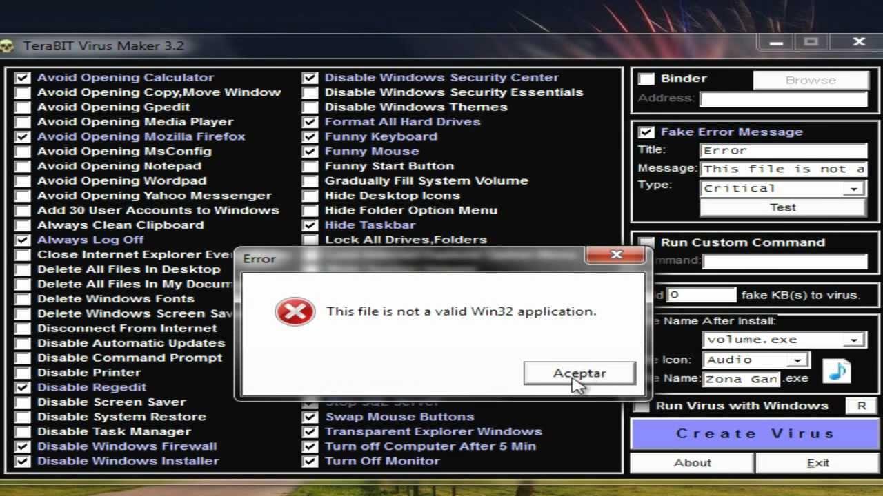 Terabit virus maker download.