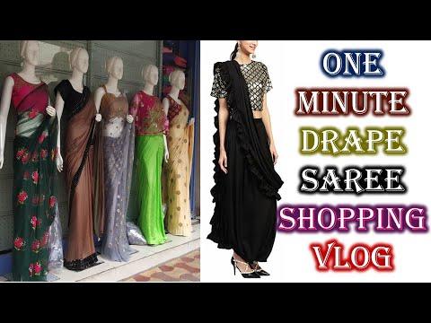 One Minute Saree Shopping Vlog Sultan Bazaar Hyderabad    Ready To Wear Saree