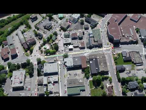 Drone Video of Large Water Slide in Edmundston New Brunswick Canada