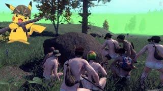 ニンゲンGO!?裸族が集団で獲物を捕まえる瞬間! thumbnail