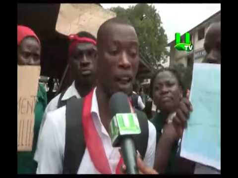 Private unemployed nurses picket at Ministry of Health