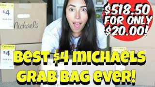 BEST EVER MICHAELS $4 GRAB BAGS ║ $518.50 WORTH OF PRODUCTS FOR ONLY $20