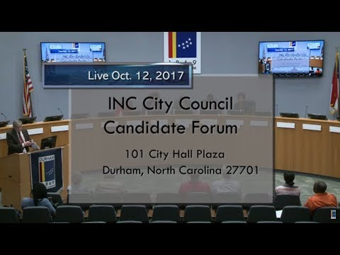 INC City Council Candidate Forum Oct 12, 2017