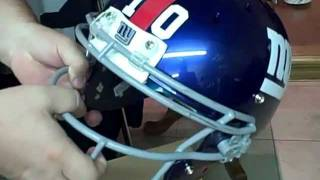 NY Giants Game Worn Helmets Oct 2011