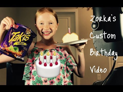 Zorka's Custom Birthday Video - Pampering Spa Day - Takis 🎂🍨🎁