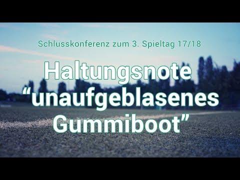 """3. Spieltag: Haltungsnote """"unaufgeblasenes Gummiboot"""""""
