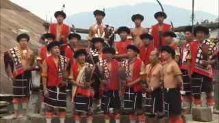Nagas from 9 villages perform their tribal folk songs & dances. HDM
