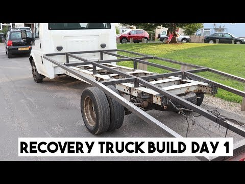 FORD TRANSIT RECOVERY TRUCK BED BUILD, PART 1. RAMP TRUCK
