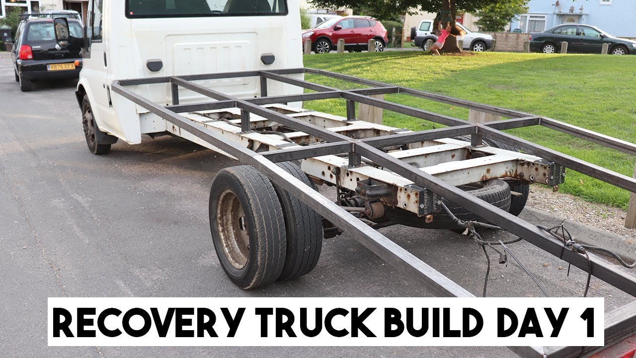 FORD TRANSIT RECOVERY TRUCK BED BUILD, PART 1  RAMP TRUCK