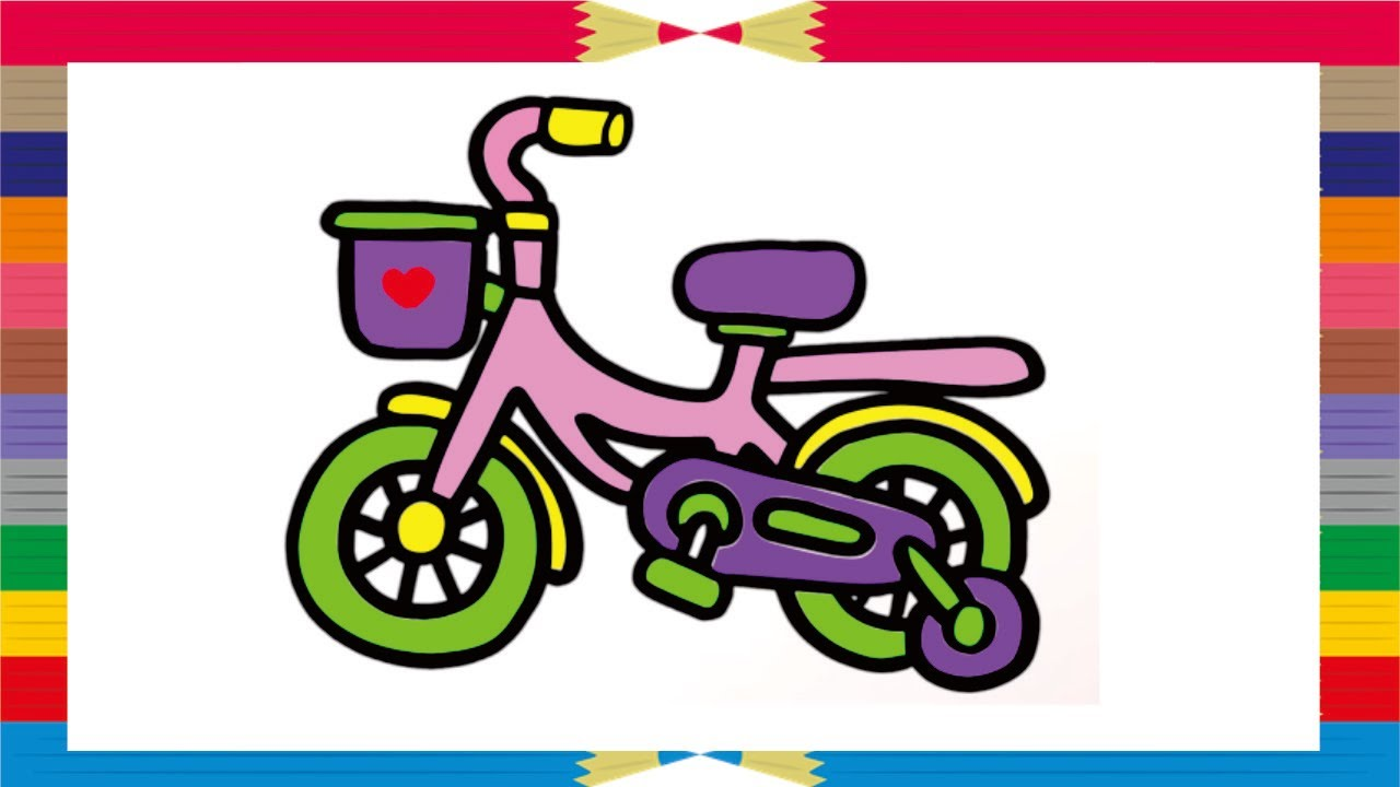 How To Coloring Bicycle For Kids ❤️ Fun Coloring Pages For